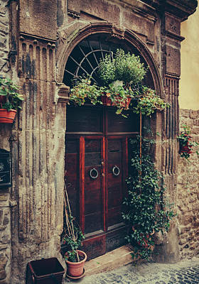 Photograph - Classic Wooden Door On Stonewall, Lazio by Kaisersosa67