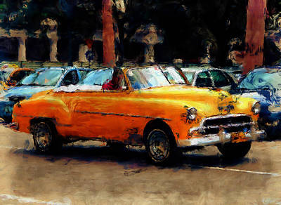 Photograph - Classic Yellow Havana by Fran Hogan