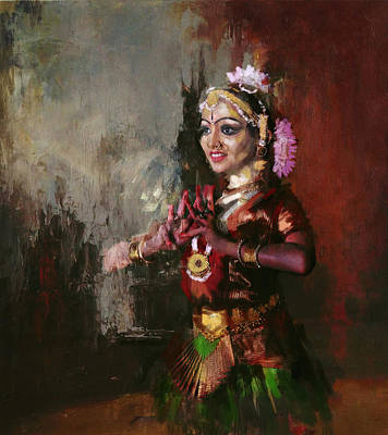 Subcontinent Painting - Classical Dance Art 10 by Maryam Mughal