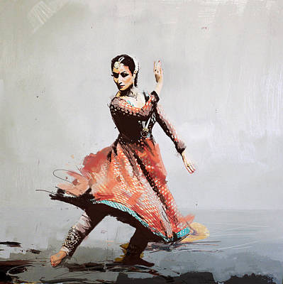 Subcontinent Painting - Classical Dance Art 11 by Maryam Mughal