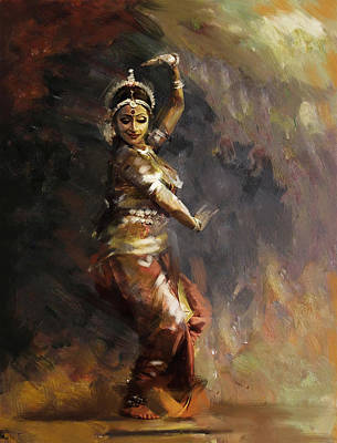 Painting - Classical Dance Art 12 by Maryam Mughal