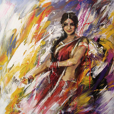 Subcontinent Painting - Classical Dance Art 14 by Maryam Mughal