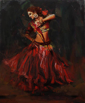 Painting - Classical Dance Art 16 by Maryam Mughal