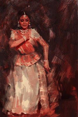 Painting - Classical Dance Art 18b by Maryam Mughal