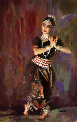 Subcontinent Painting - Classical Dance Art 2 by Maryam Mughal
