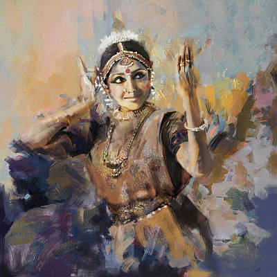 Subcontinent Painting - Classical Dance Art 3 by Maryam Mughal