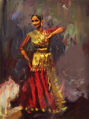 Painting - Classical Dance Art 9 by Maryam Mughal