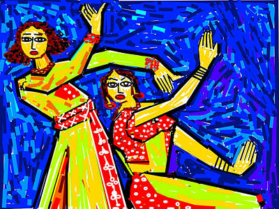 Classical Dancers Art Print by Anand Swaroop Manchiraju