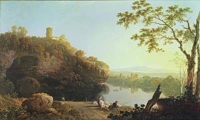 Breastfeeding Painting - Classical Landscape View On The Arno by Richard Wilson