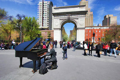Photograph - Classical Piano In Washington Square by Allen Beatty