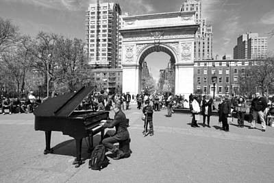 Photograph - Classical Piano In Washington Square Park by Allen Beatty