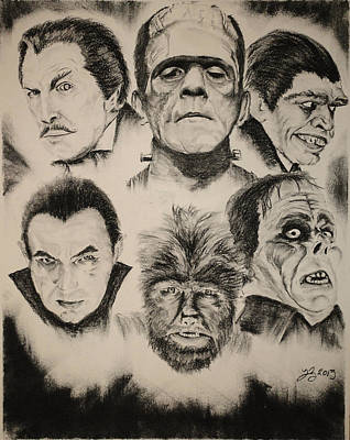 Boris Drawing - Classics Of Horror by Tim Brandt