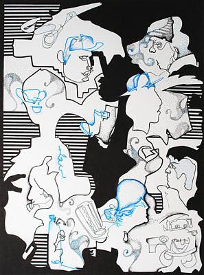 Wall Art - Drawing - Classmates by Zuzana Vass
