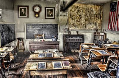 One Room School Houses Photograph - Classroom Recess by Ken Smith