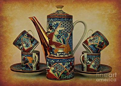 Old Milk Jugs Photograph - Classy Coffee by Clare Bevan
