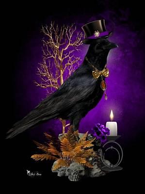 Digital Art - Classy Crow by Ali Oppy