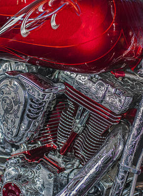 Illusions Painting - Classy Harley Davidson by Jack Zulli