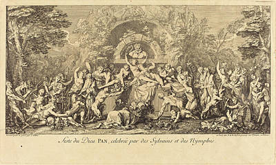 Nymphe Drawing - Claude Gillot French, 1673 - 1722, Feste Du Dieu Pan by Quint Lox