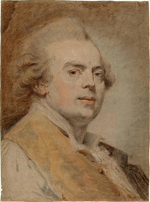 Self-portrait Drawing - Claude Hoin, French 1750-1817, Self-portrait by Litz Collection