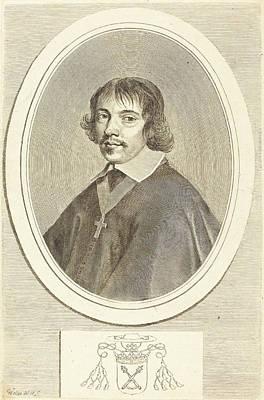 Gondi Drawing - Claude Mellan French, 1598 - 1688, Jean-françois Paul De by Quint Lox