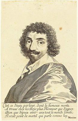 Balzac Drawing - Claude Mellan French, 1598 - 1688, Jean-louis Guez De Balzac by Quint Lox