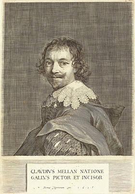 Self-portrait Drawing - Claude Mellan French, 1598 - 1688, Self-portrait by Quint Lox
