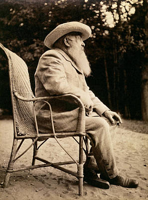 Painter Photograph - Claude Monet 1840-1926 Bw Photo by French Photographer