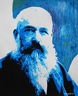 Claude Mixed Media - Claude Monet. by Nancy Mergybrower