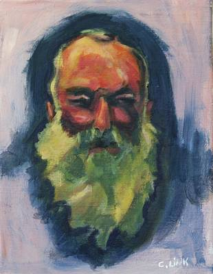 Painting - Claude Monet Self Portrait by Catherine Link
