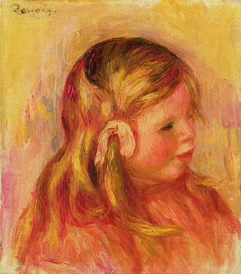Toddler Portrait Painting - Claude Renoir by Pierre Auguste Renoir