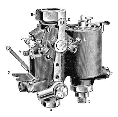 Claudel Carburettor Art Print by Science Photo Library