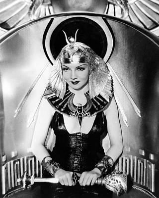 Cleopatra Photograph - Claudette Colbert In Cleopatra  by Silver Screen