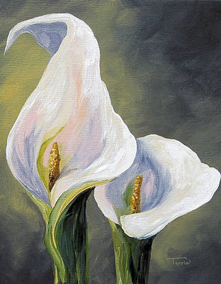 Painting - Claudia's Calla Lilies by Torrie Smiley