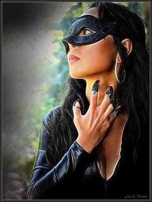 Painting - Claws Of The Cat Woman by Jon Volden