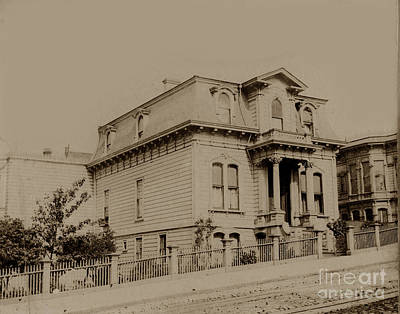 Photograph - Clay And Hyde Street's San Francisco Built In 1874 Burned In The 1906 Fire by California Views Mr Pat Hathaway Archives