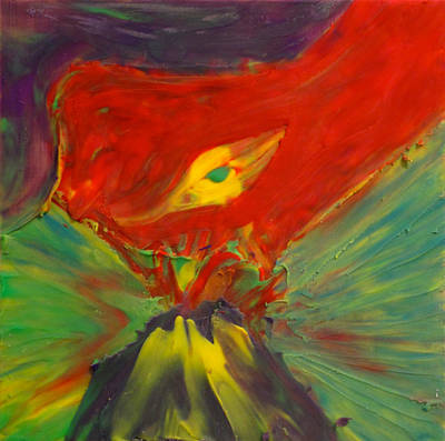 Polymer Clay Painting - Clay Play 2 - Volcanic by Steve Sommers