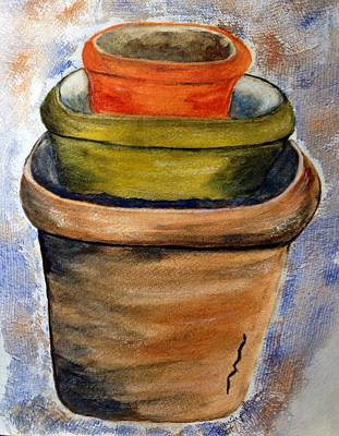 Painting - Clay Pots by Joan Zepf