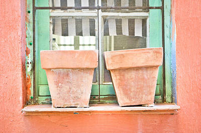 Window Sill Photograph - Clay Pots by Tom Gowanlock