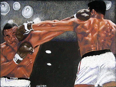 Drawing - Clay Vs. Liston by Michael Swanson