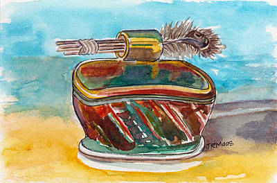 Clay With Feathers Art Print by Julie Maas