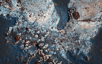 Celestial Painting - Clays Along The Coprates Chasma Plateau In Mars by Celestial Images