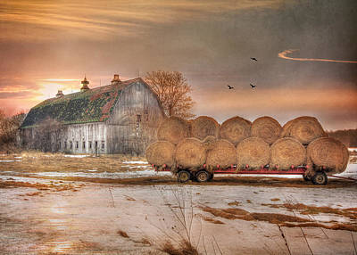 Barn Digital Art - Clayton Sunset by Lori Deiter