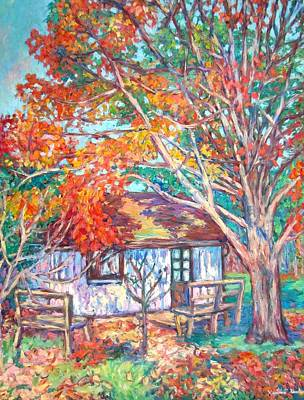 Claytor Lake Cabin In Fall Art Print