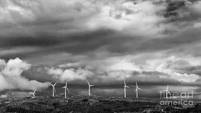 Windmill Photograph - Clean Energy - Wind Turbines by Jose Elias - Sofia Pereira
