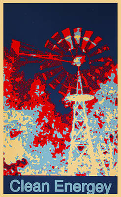 Politicians Digital Art - Clean Energy Poster by Barbara Snyder