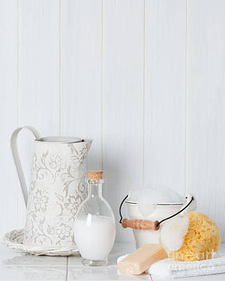 Bale Photograph - Clean Fresh Bathroom Items by Amanda Elwell