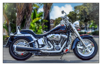 Art Print featuring the photograph Clean Looking Harley by Steve Benefiel