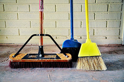 Photograph - Clean Sweep Brooms Cleanup Crew by Rebecca Brittain