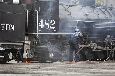 Photograph - Cleaning Out The Coal by Amber Kresge