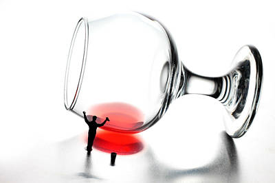 Big Wine Photograph - Cleaning Wine Cup Little People On Food by Paul Ge